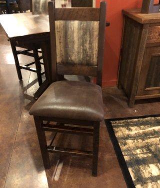Co-ALBC Upholstered Barn Wood Bar Stool