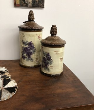 Crestview Pinecone Canisters
