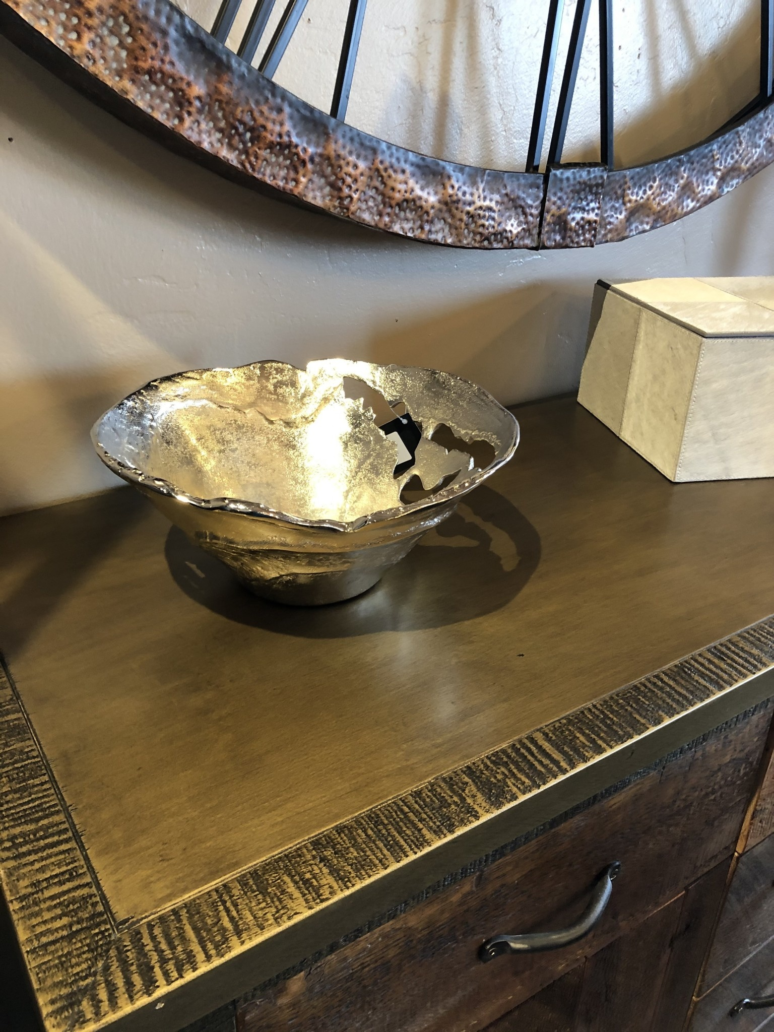 Crestview Willow Silver Md Pierced Bowl