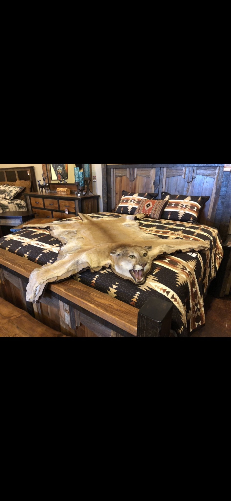 Fish Mountain Lion Rug