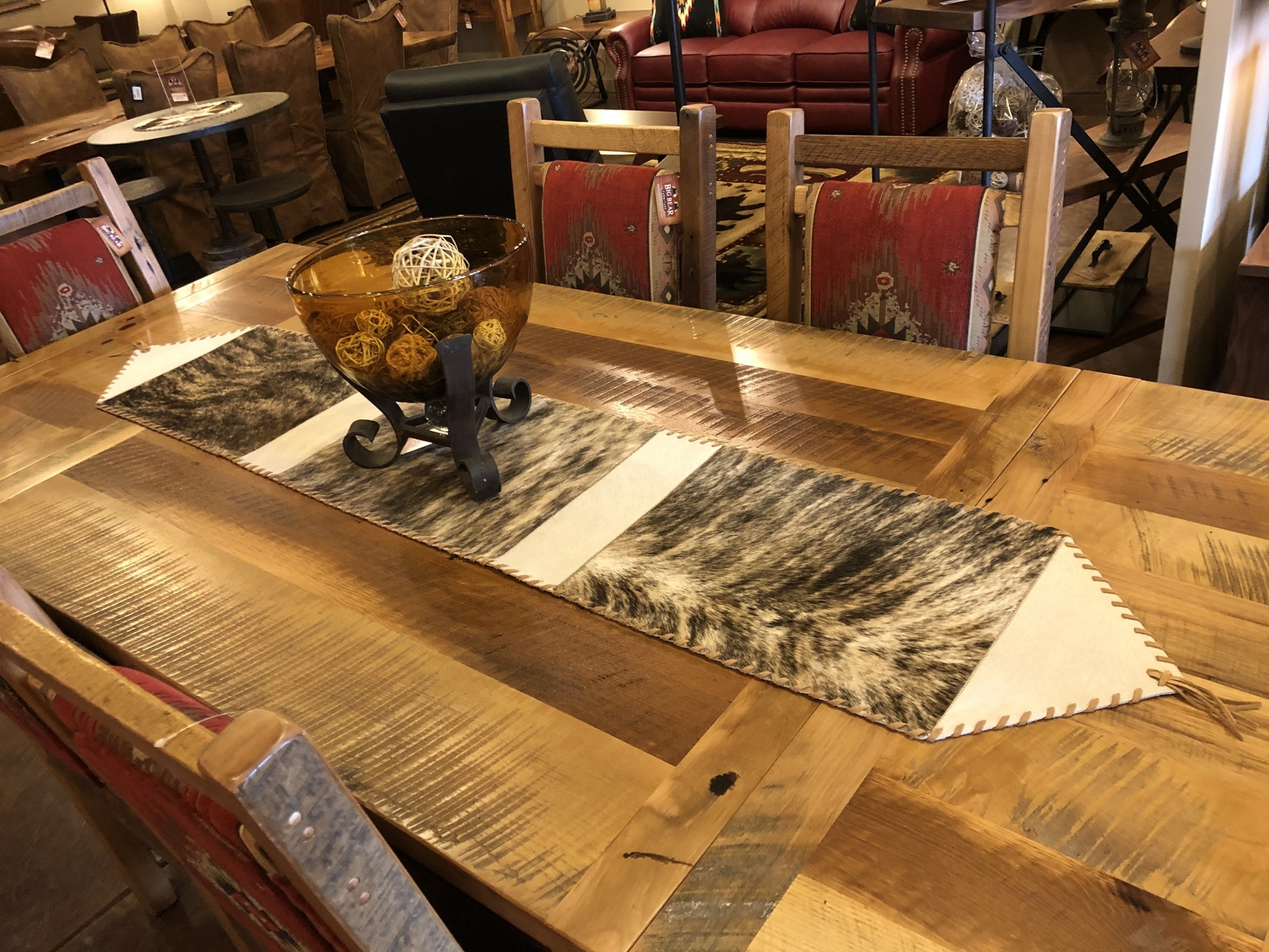 Gaucho Large Cowhide Table Runner