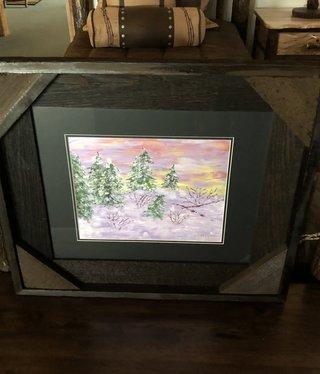 "James Larson ""First Snowfall"" Original Acrylic Art 23x27"