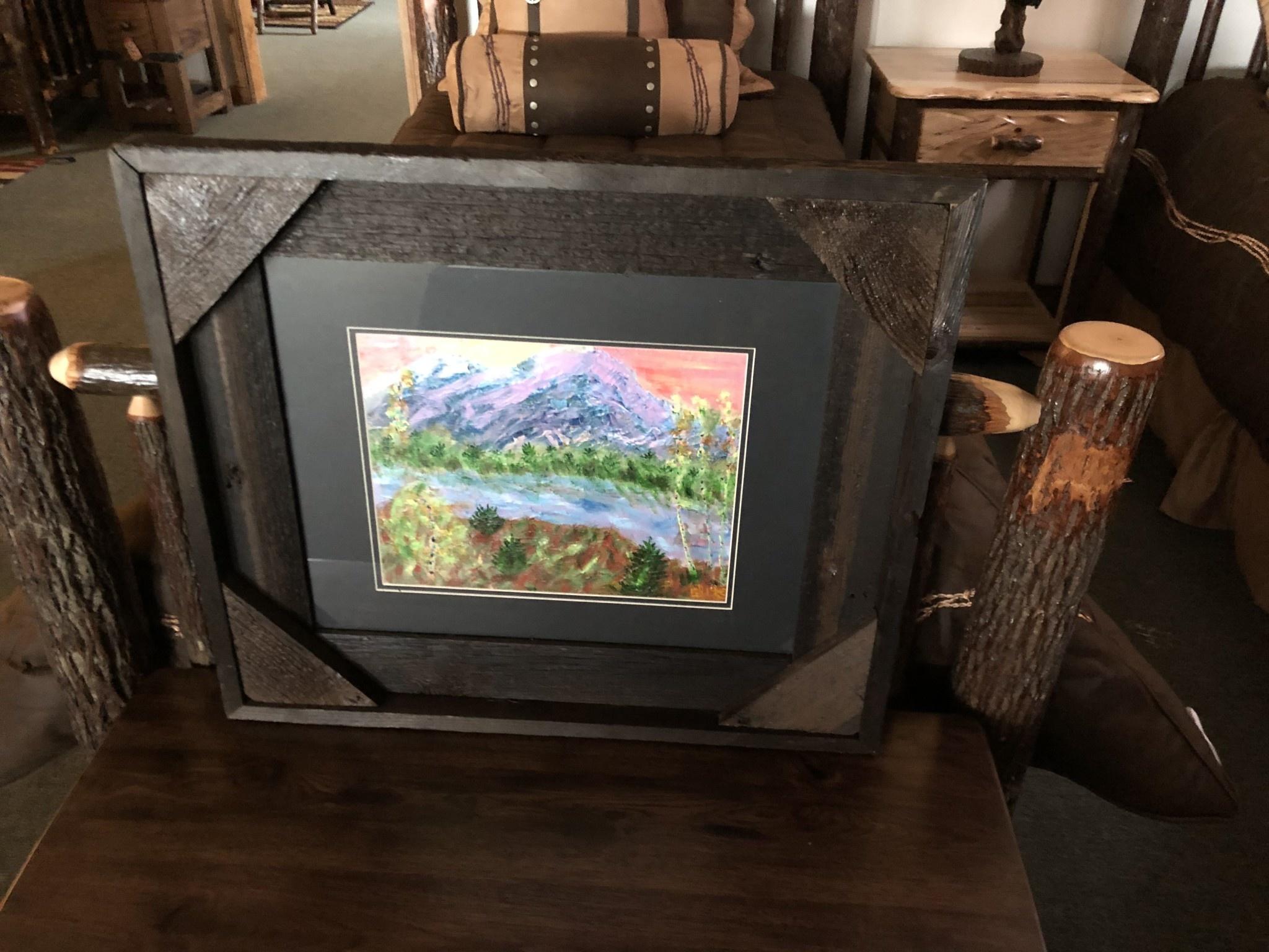 "James Larson ""Majestic Mountains"" Original Acrylic Art 27x23"