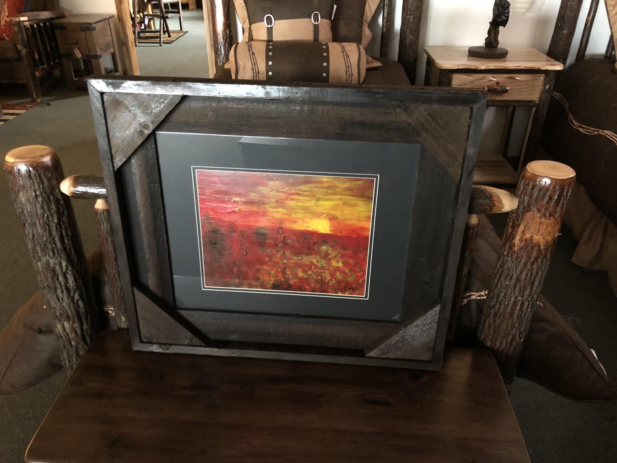 "James Larson ""Sunrise in Montana"" Original Acrylic Art 27x23"