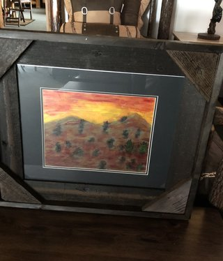"James Larson ""Dust Storm"" Original  Acrylic Art 27x23"