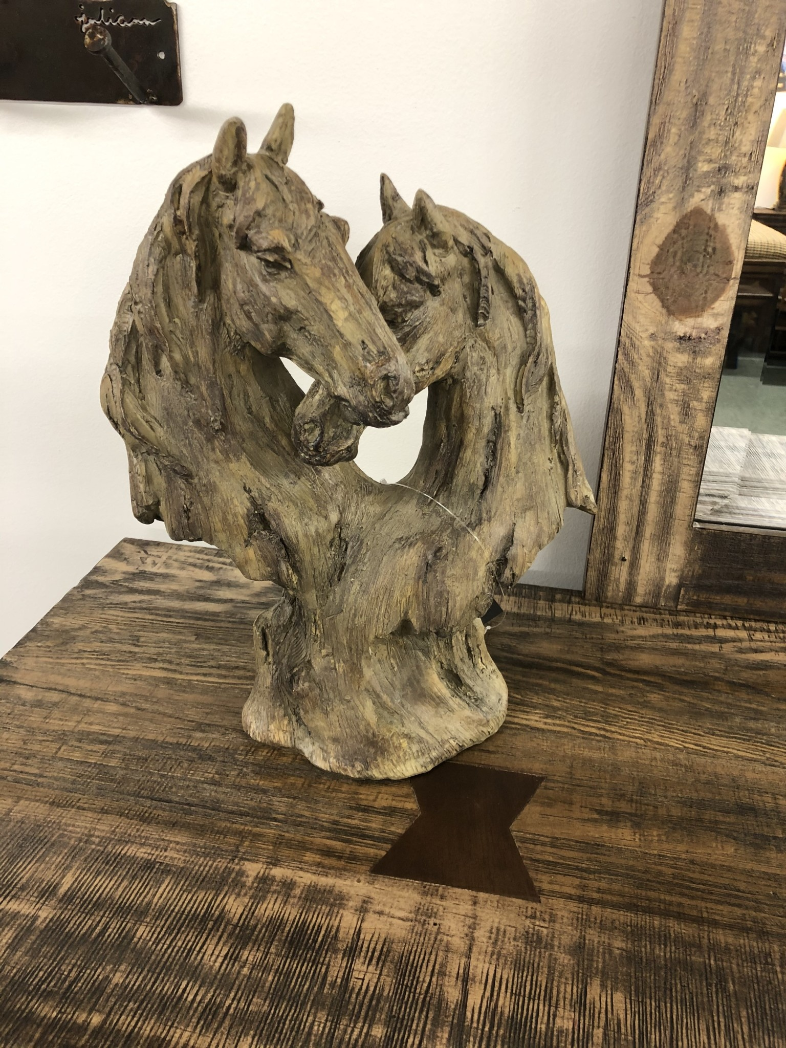 Simpkins-Canterbury Lane Faux Carved Wood Horse Heart