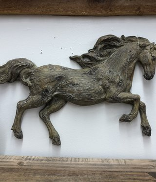 Simpkins-Canterbury Lane Faux Carved Wood Running Horse