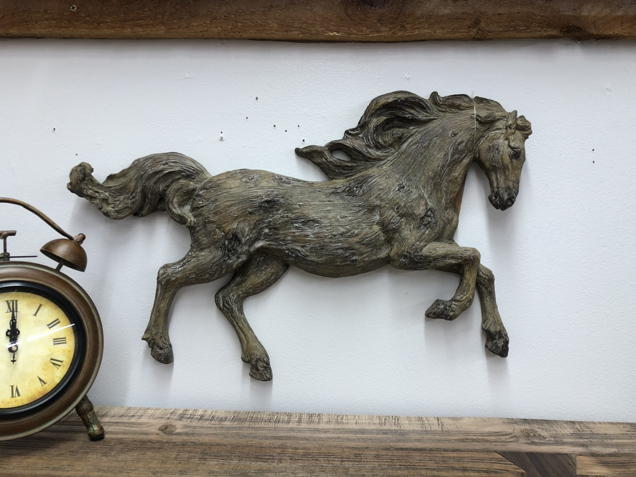 Simpkins-Canterbury Lane Faux Carved Wood Running Horse