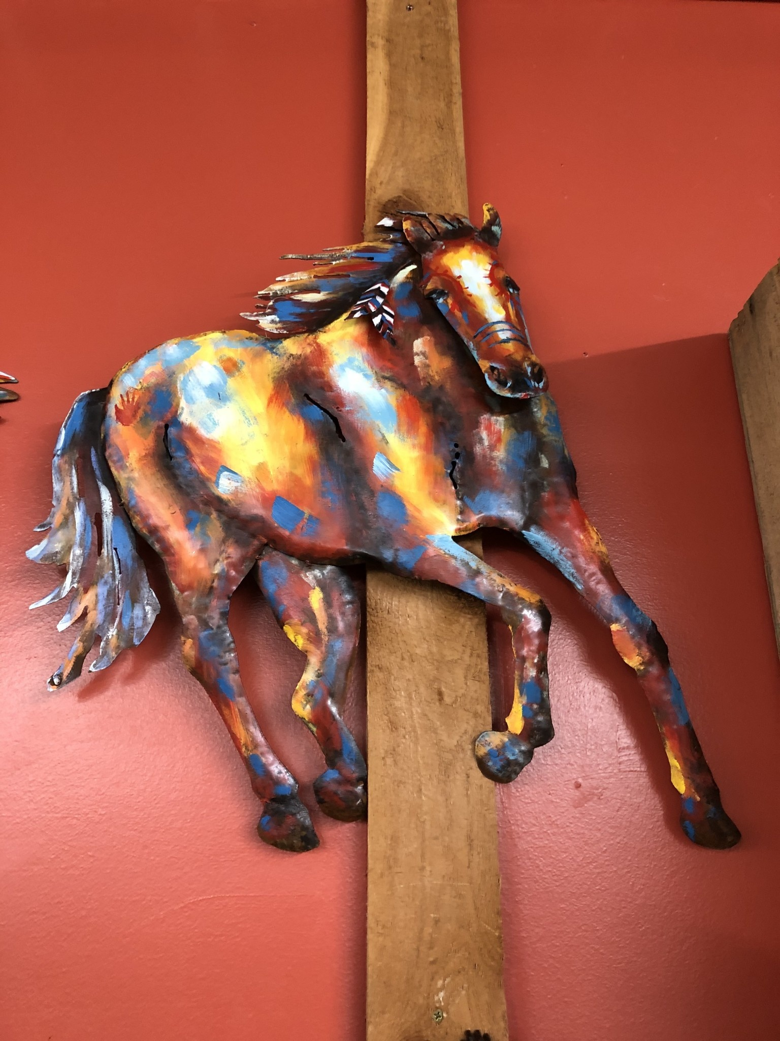 Simpkins-Canterbury Lane Running Horse Metal Wall Sculpture