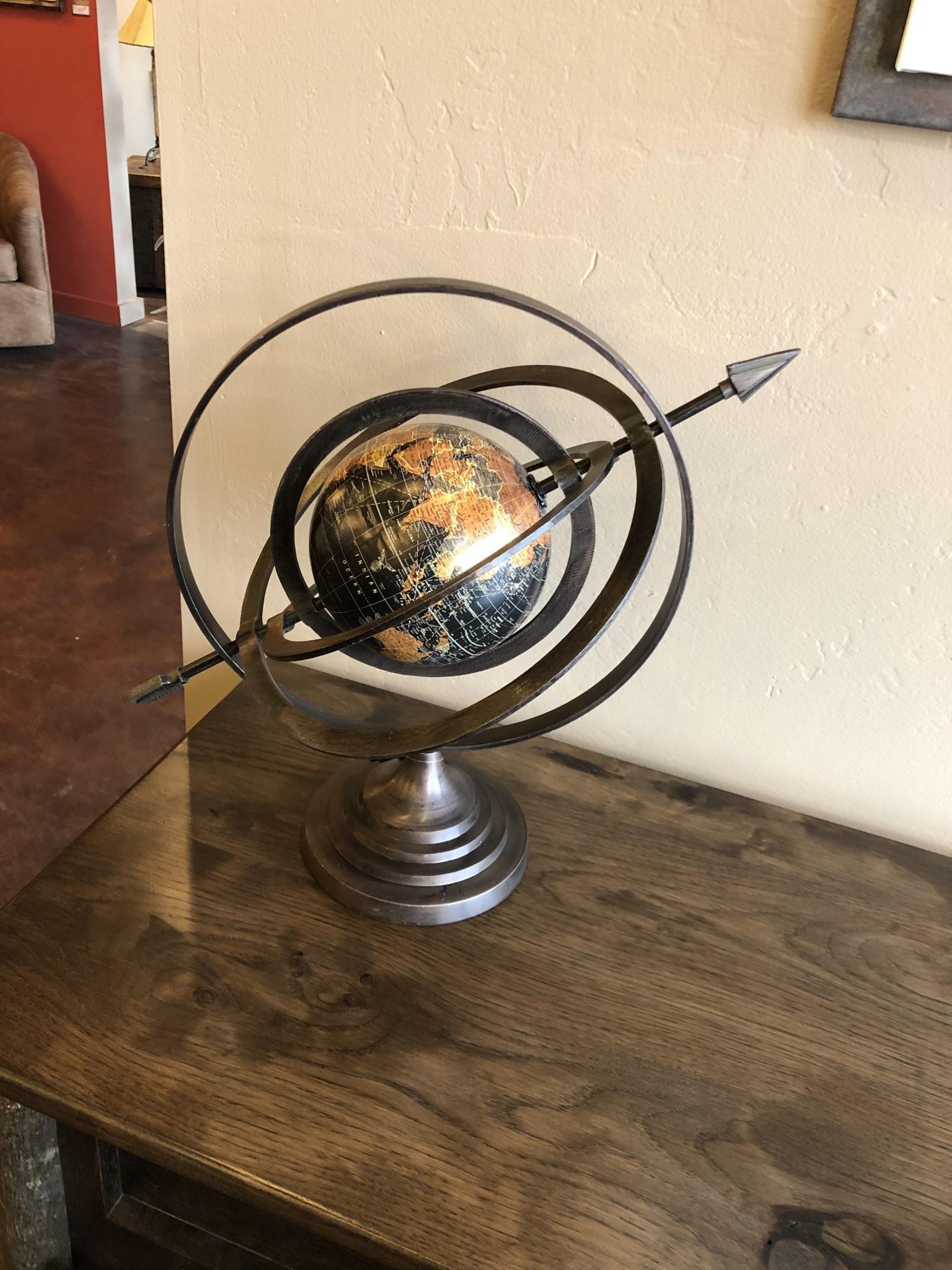 "Uma Aluminum Globe, 20""w x 18""h"