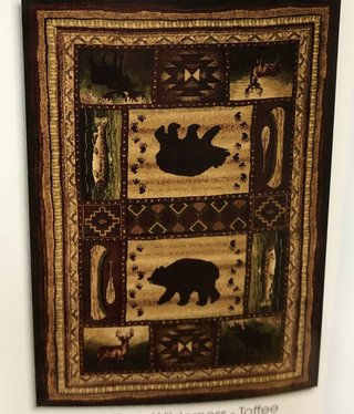 "United Weavers Contours Bear Wilderness Rug 7'10"" x 10'6"""