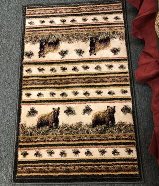 "United Weavers Marsh Genesis Pine Creek Bear Rug 1'10"" x 3'"