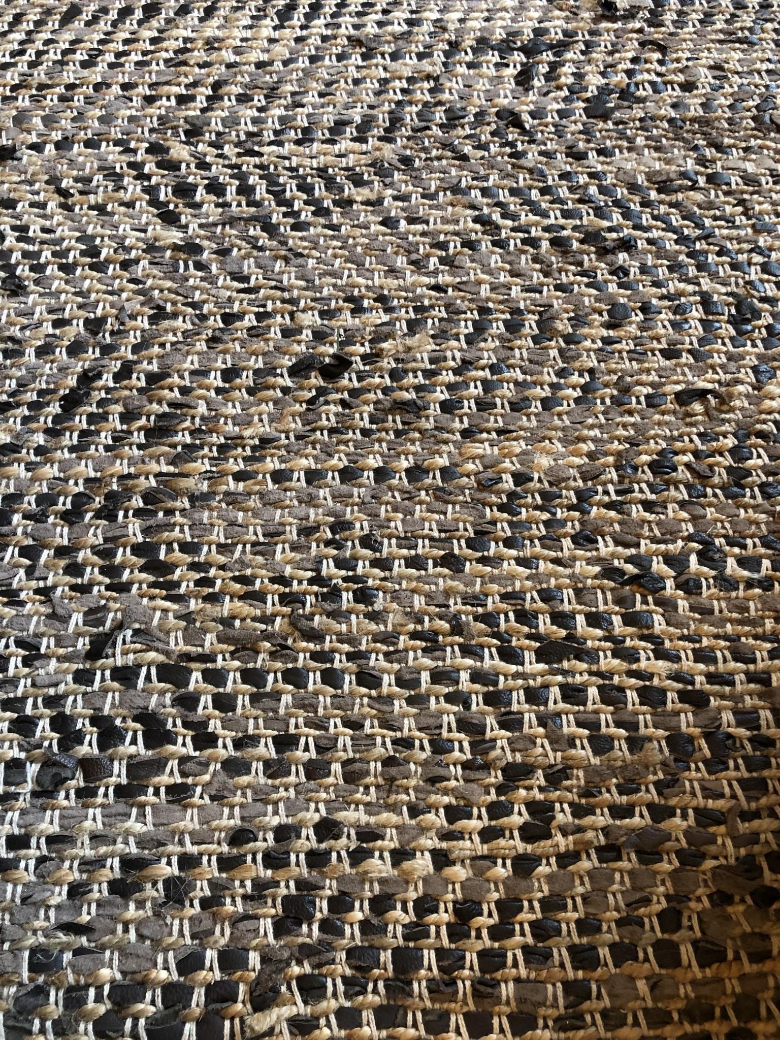 Uttermost Tobias 9' x 12'  Leather & Hemp Rug