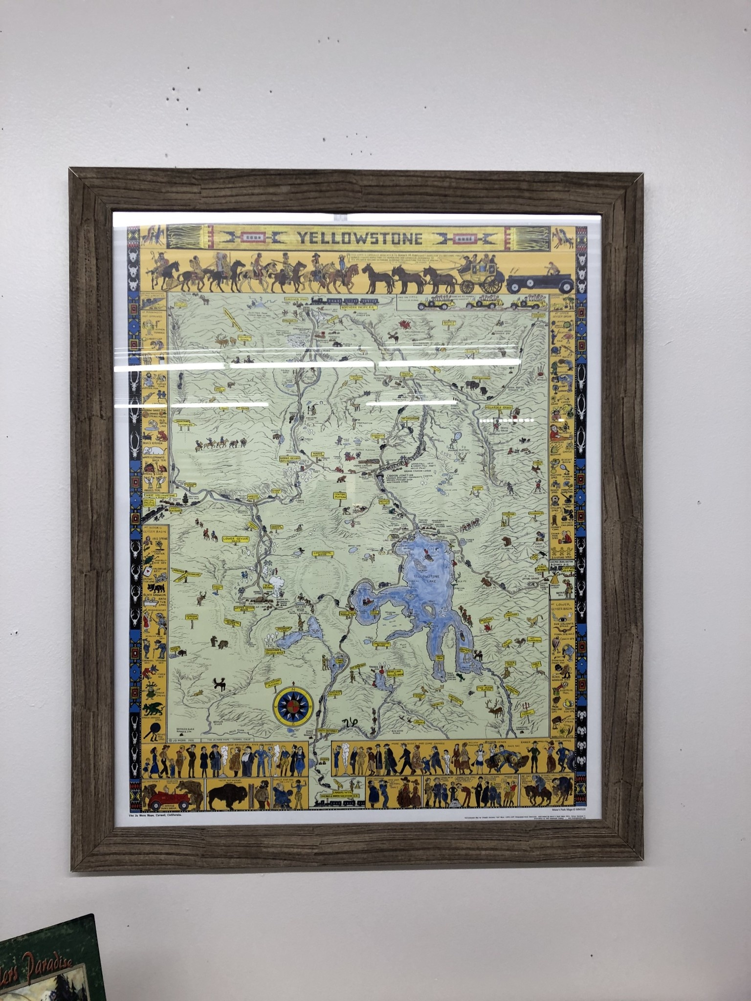 Chuck Lewis Yellowstone Map