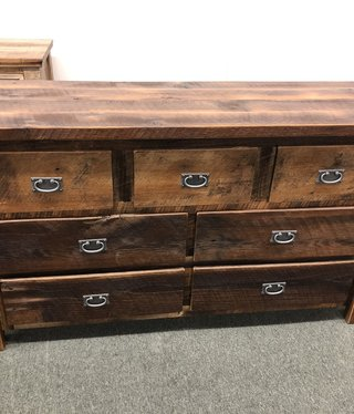 Co-ALBC Barn Wood 7 Drawer Dresser