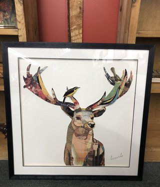 Simpkins-Canterbury Lane Collage 3D Art-Elk