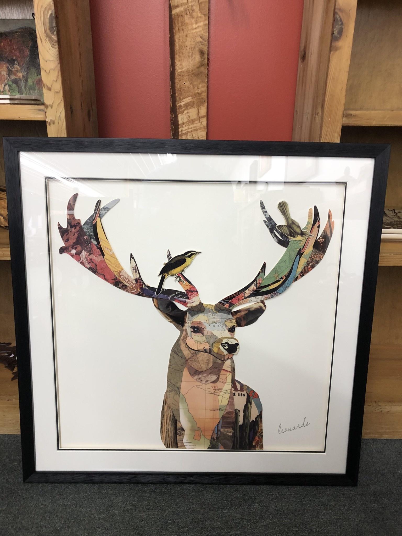 Simpkins-Canterbury Lane Collage 3D Art-Elk