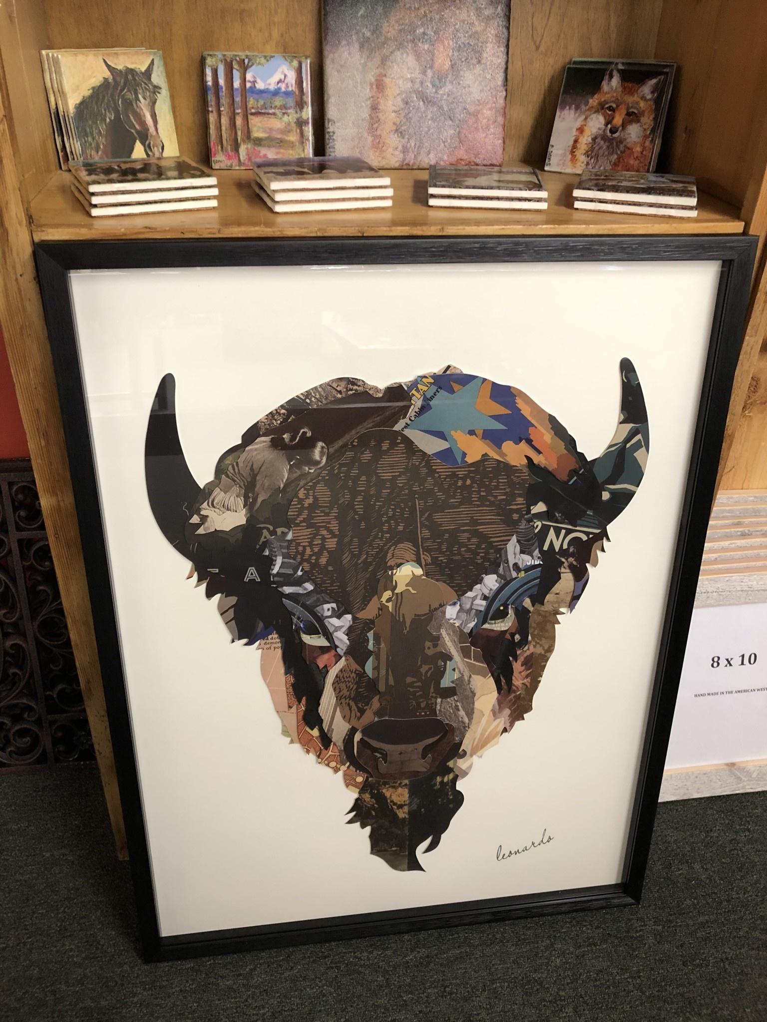 Simpkins-Canterbury Lane Collage 3D Art-Buffalo