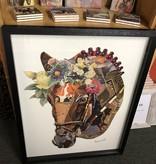 Simpkins-Canterbury Lane Collage 3D Art-Horse Head w/flowers