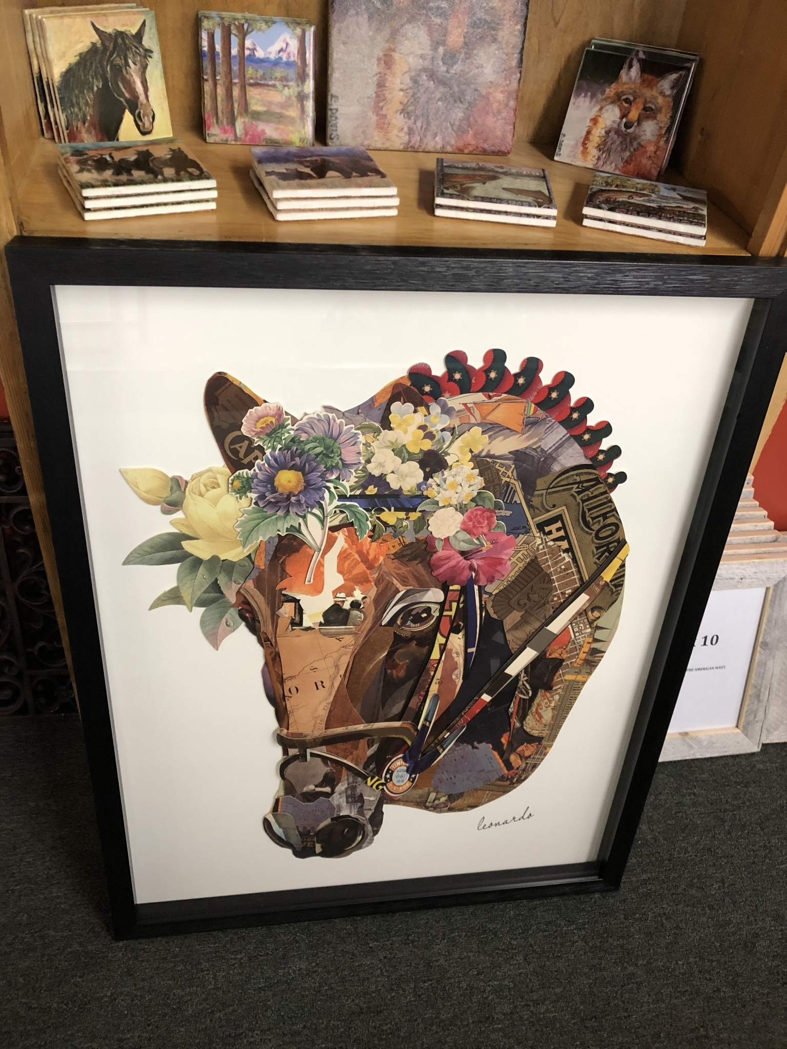 Simpkins-Canterbury Lane Collage 3D Art-Horse Head w/flowers