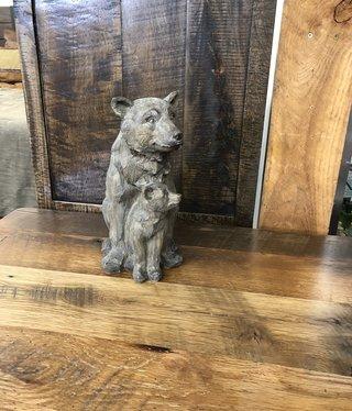 Simpkins-Canterbury Lane Faux Carved Wood Bear & Cub