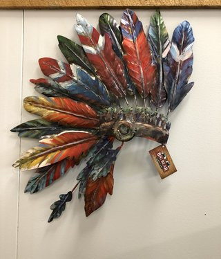 Simpkins-Canterbury Lane Indian Bonnet-Metal Wall Art - Large