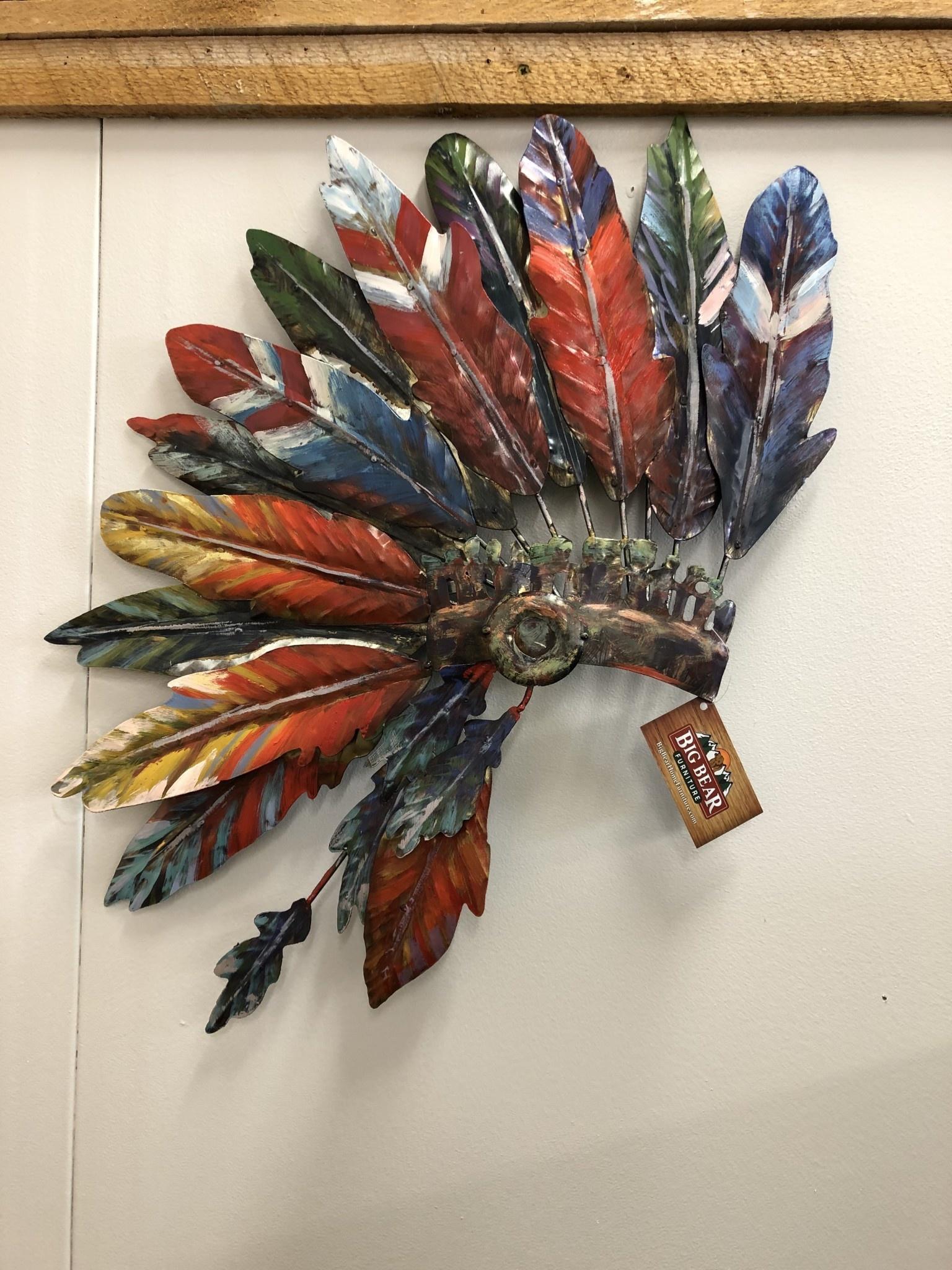 Simpkins-Canterbury Lane Indian Bonnet-Metal Wall Art - Large