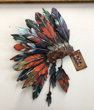 Simpkins-Canterbury Lane Indian Bonnet-Metal Wall Art - Small