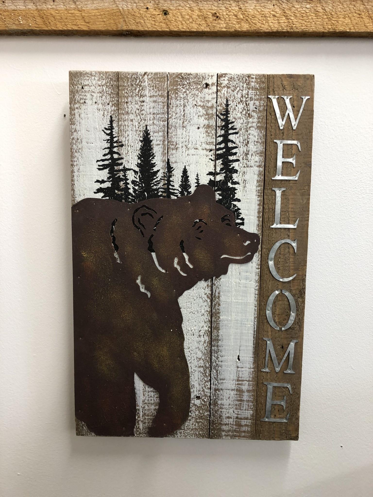 Simpkins-Canterbury Lane Welcome Sign - Bear