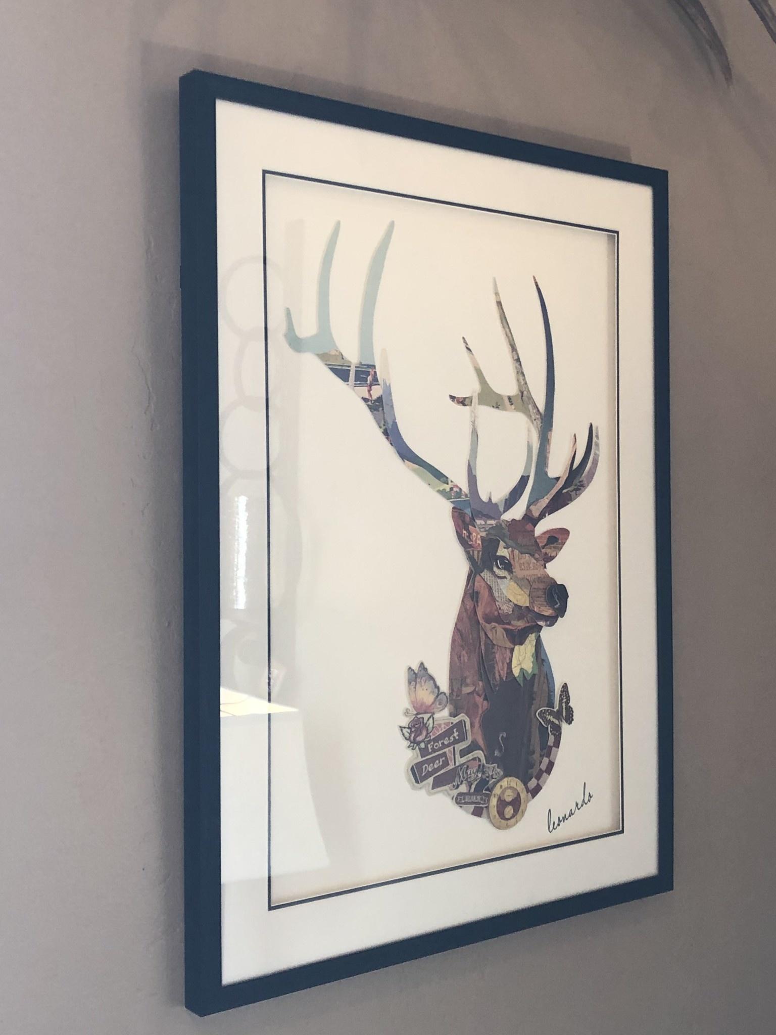 Simpkins-Canterbury Lane Collage 3D Art-Deer