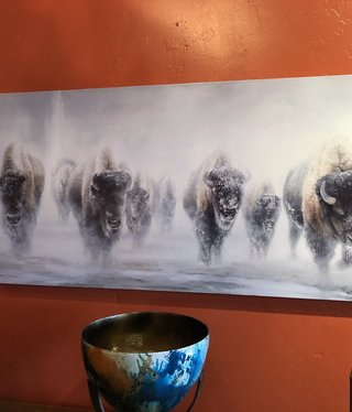 "James Corwin Art ""Giants in the Mist II""  Buffalo Giclee"