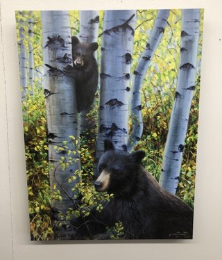 "James Corwin Art ""Keeping Watch"" Bear & Cub Giclee"