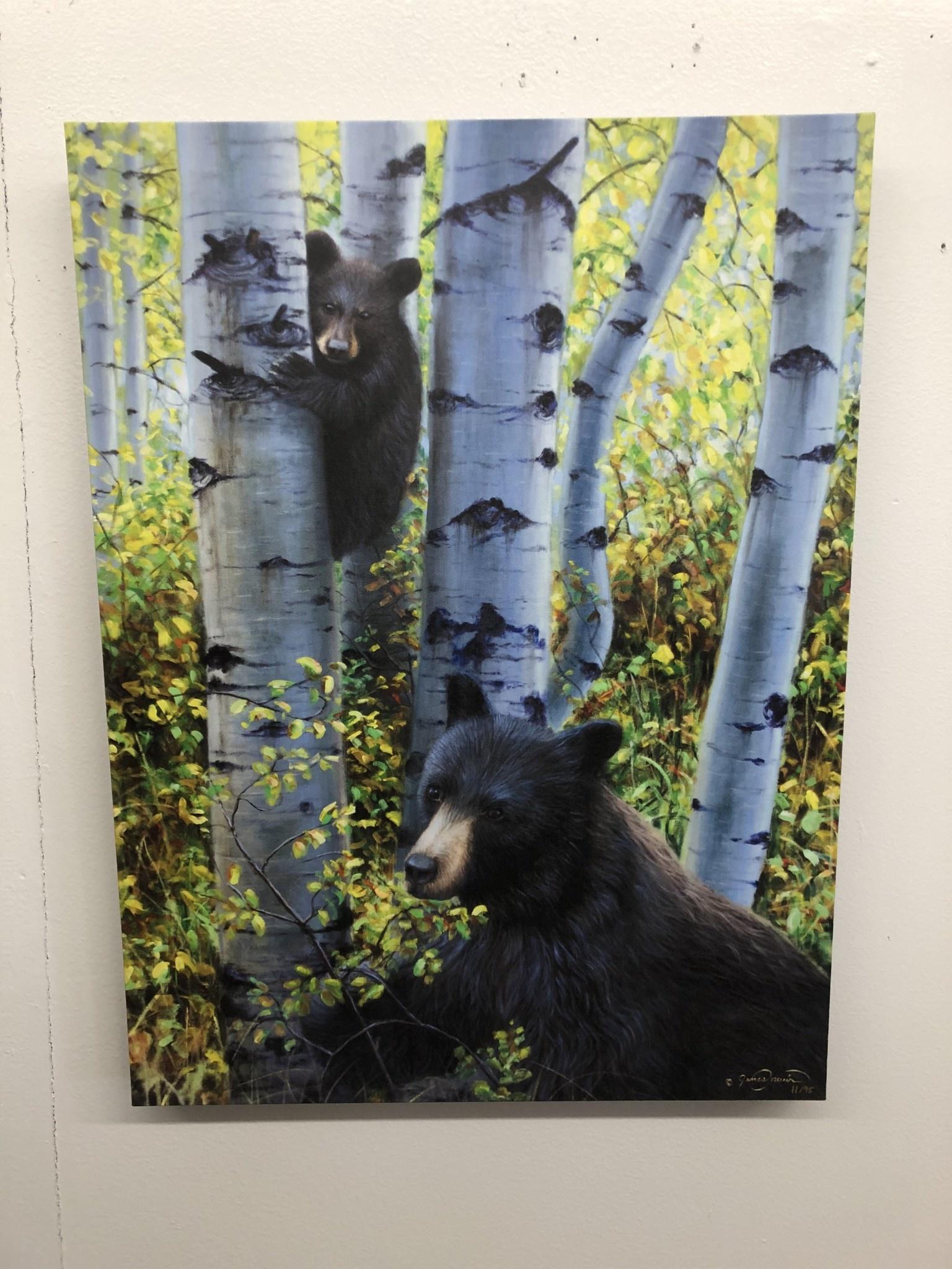 "James Corwin Art ""Keeping Watch"" Bear & Cub Giclee"