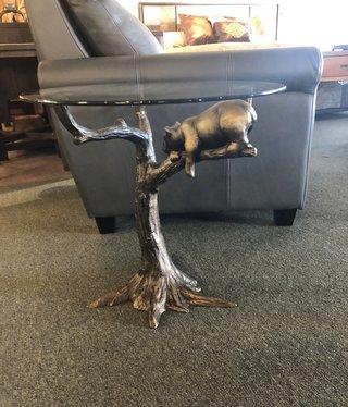 SPI Sleepy Bear End Table - Glass Top
