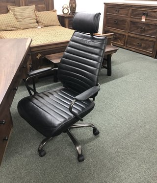Moes Executive Swivel Office Chair, Black, 25.5x26x45