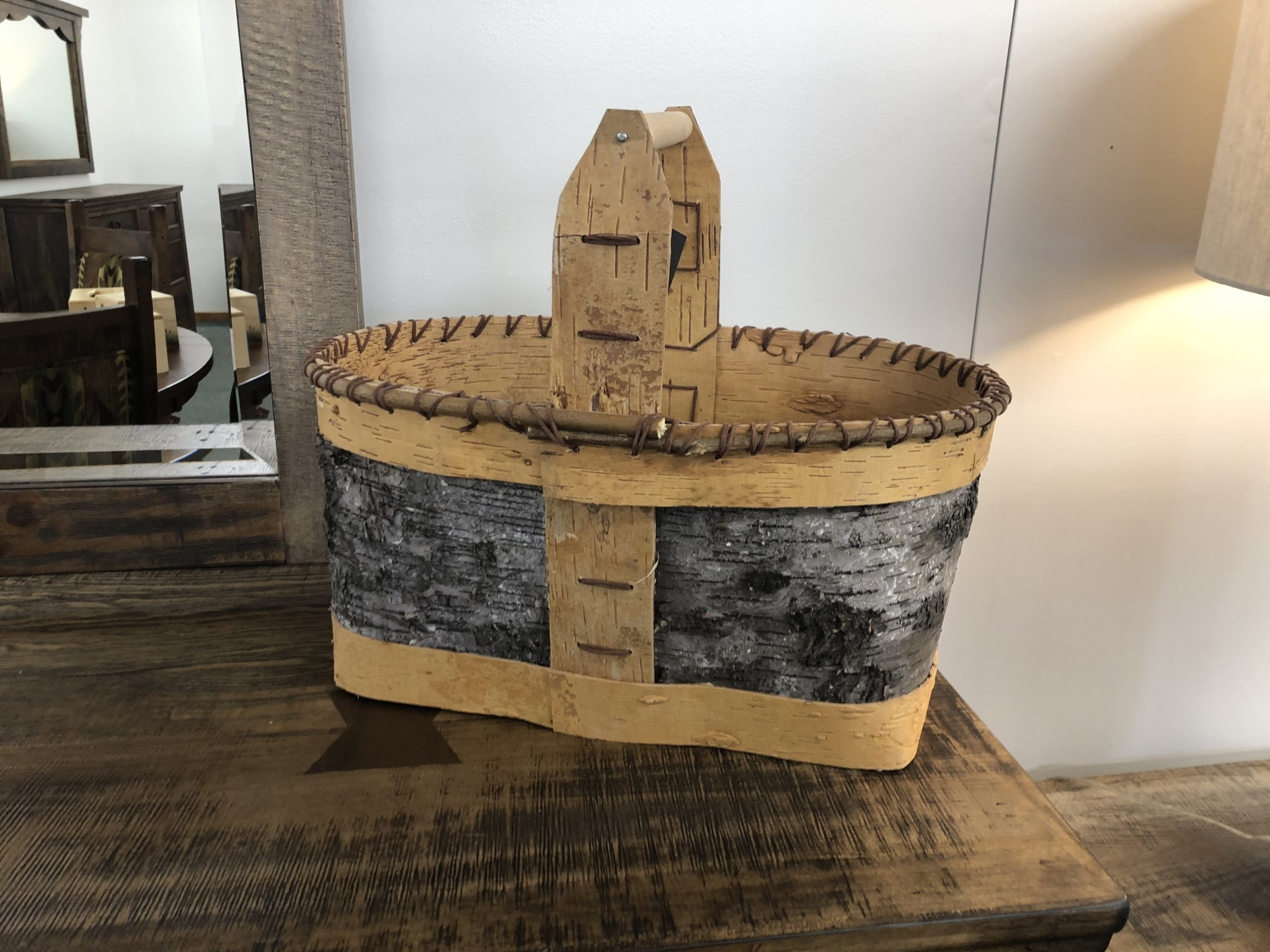 "Dalin Enterprises Birch Bark Basket 14""H"