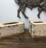 Dalin Enterprises Birch Bark Kleenex Box