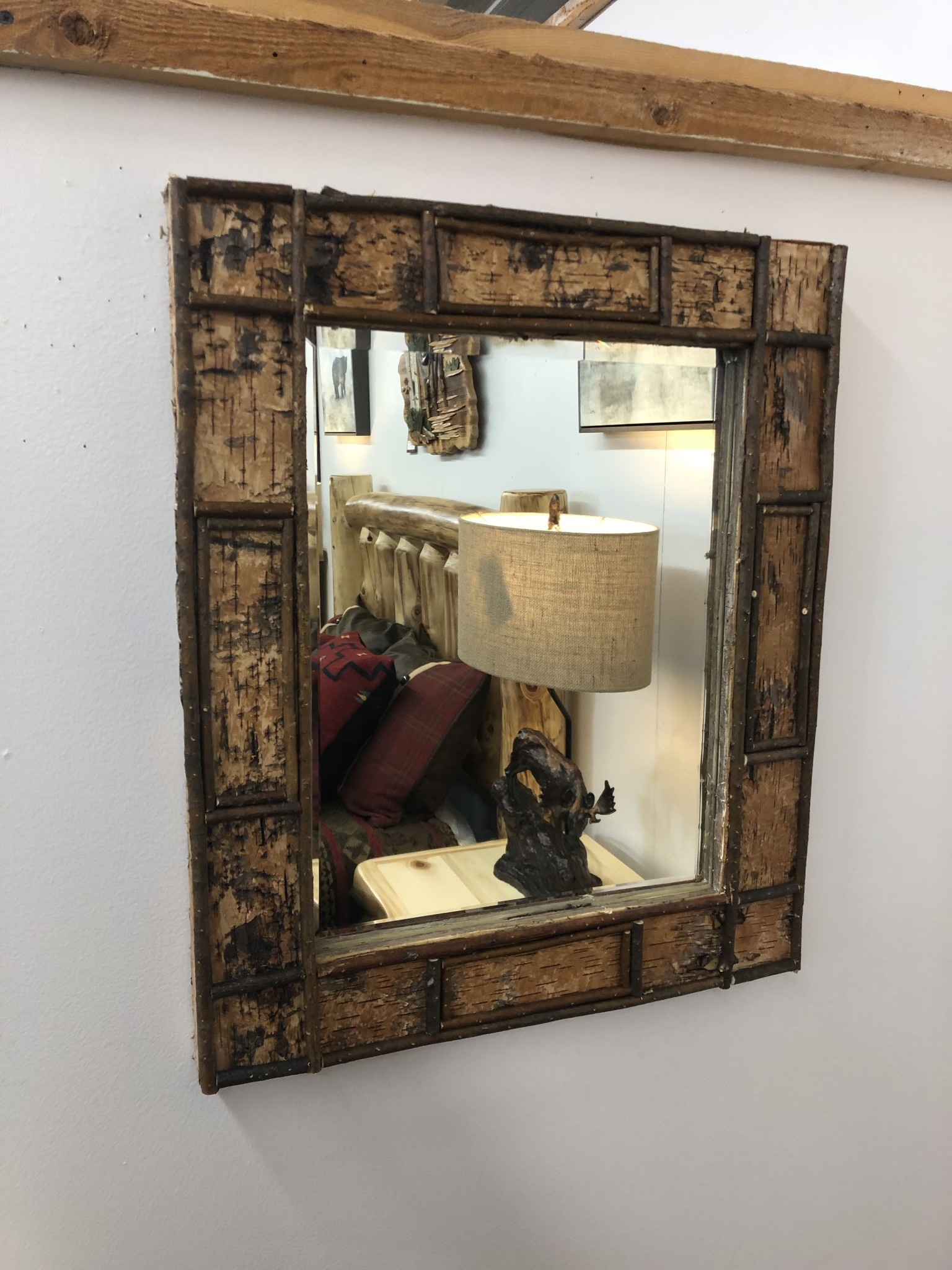 Dalin Enterprises Birch Bark Mirror