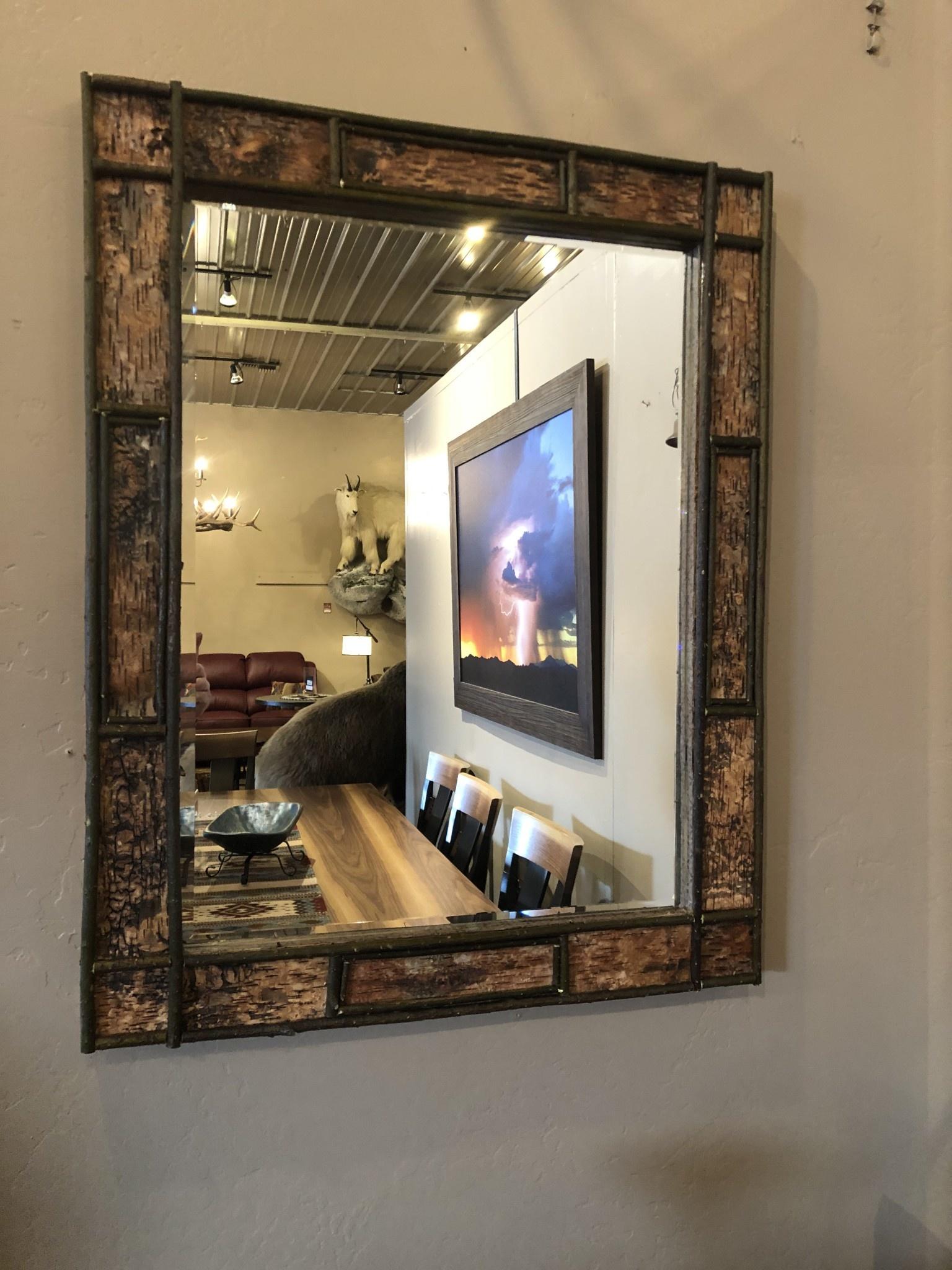 Dalin Enterprises Birch Bark Mirror Medium 25X26