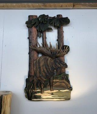 """Dalin Enterprises Moose Art 17""""W x 32""""H x1.5""""D"""
