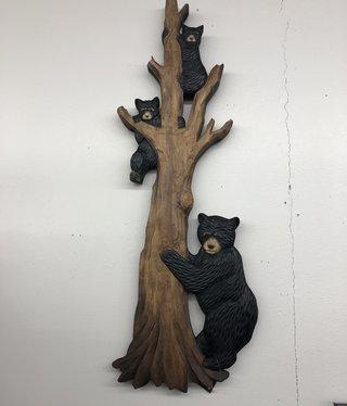 "Dalin Enterprises Bear Family In Tree 32""H"