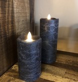 Sullivans Frosted Candle - Navy Blue - 3x7
