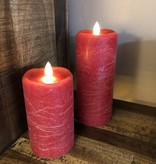 Sullivans Frosted Candle - RED - 3x7
