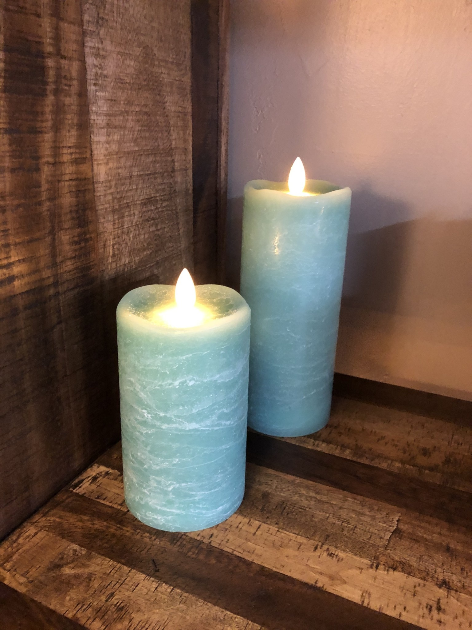 Sullivans Frosted Candle - Sea Green - 3x7