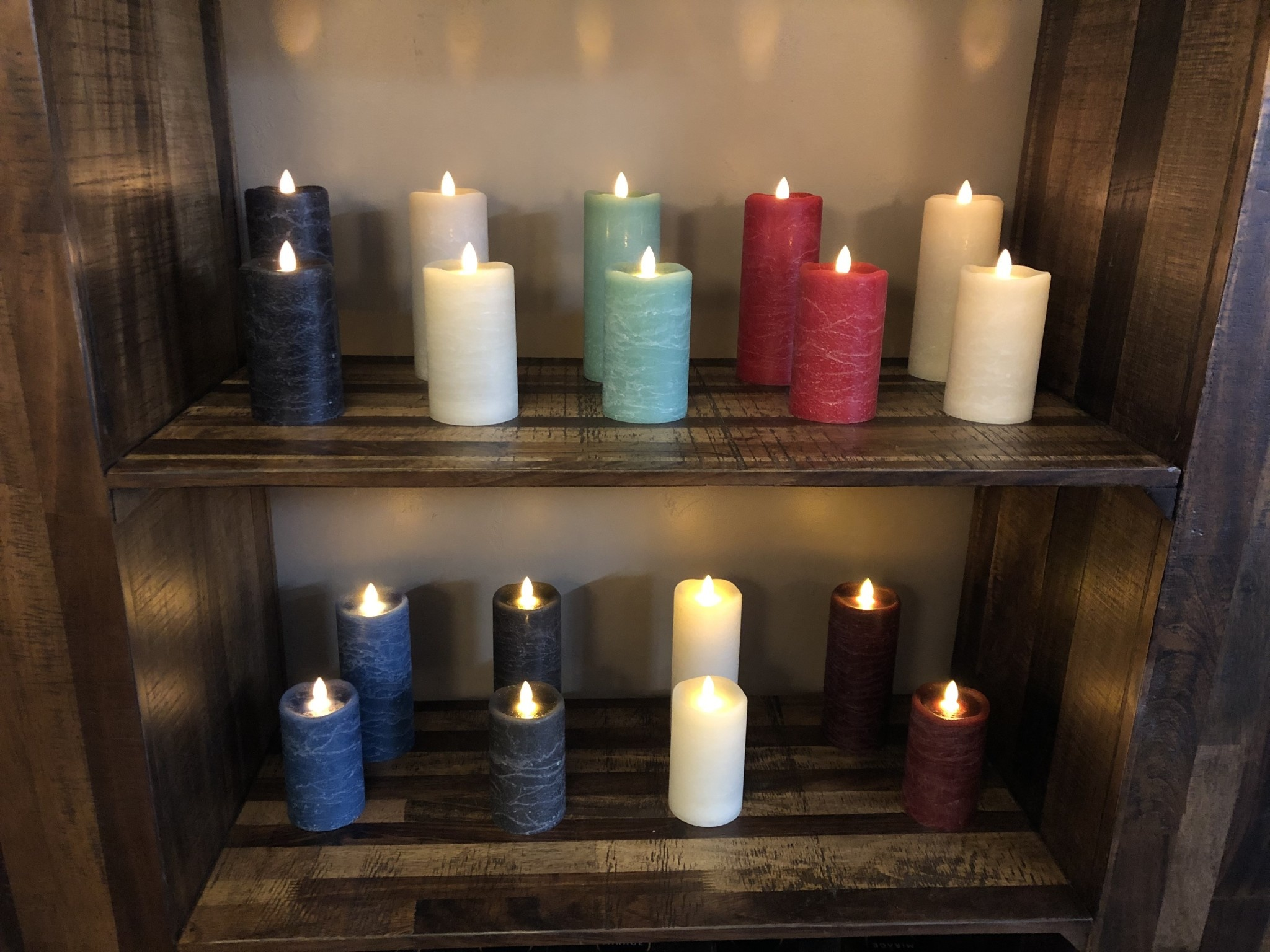 Sullivans Frosted Candle - Aegean Blue - 3x5