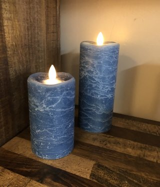 Sullivans Frosted Candle - Aegean Blue - 3x7