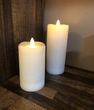 Sullivans Frosted Candle - Cream - 3x5