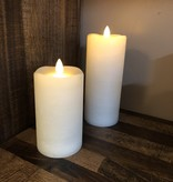 Sullivans Frosted Candle - Cream - 3x7