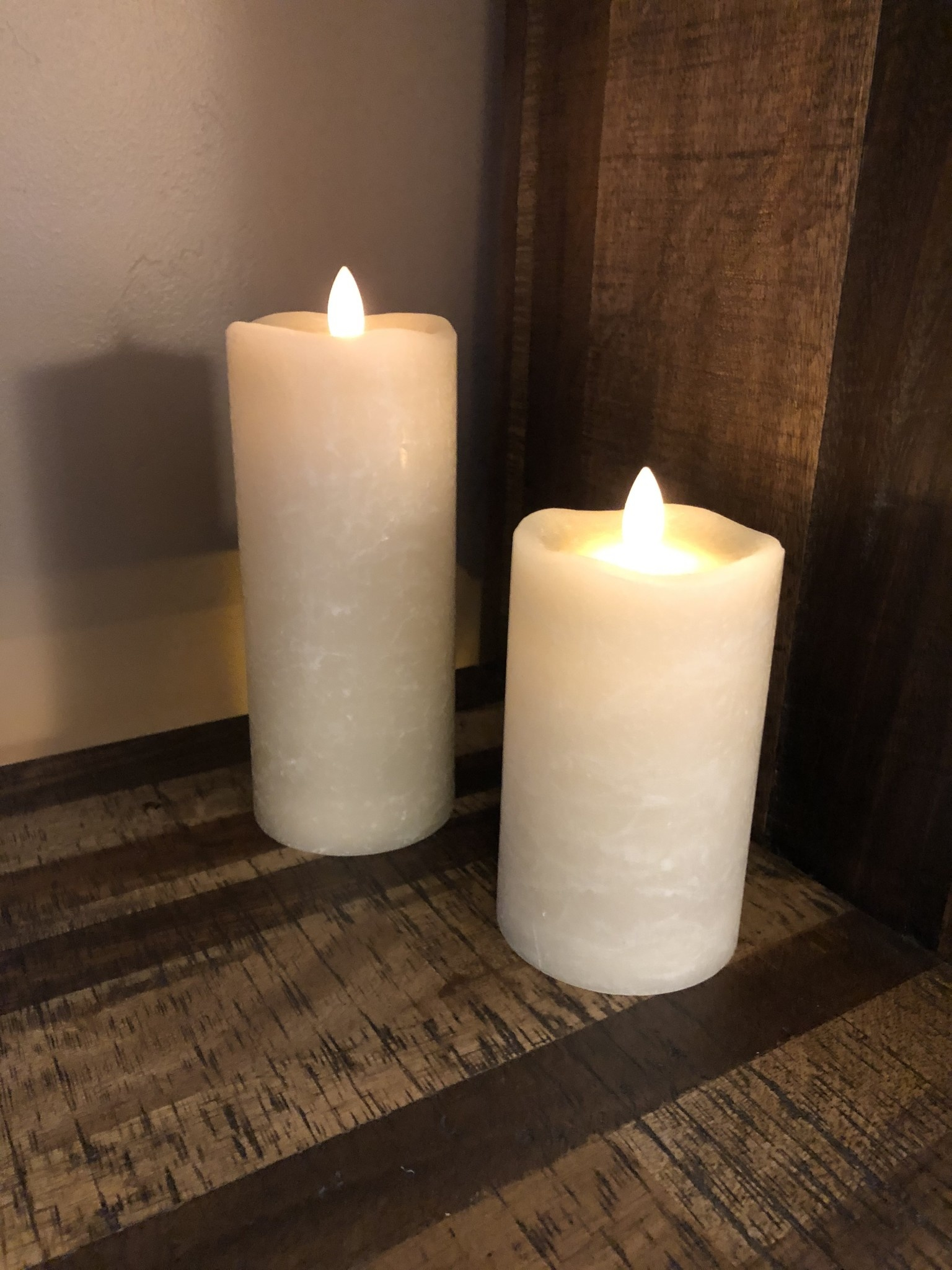 Sullivans Frosted Candle - Tan - 3x7