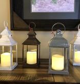 Sullivans Lantern Candle w/1 Pillar - Rustic